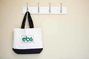 hanging bag with logo